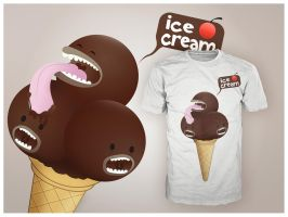 Ice cream Tee by MadeByMee