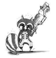 ROCKET RACOON by GrievousGeneral