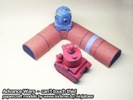 Papercraft Advance Wars Piperunner tactics by ninjatoespapercraft