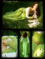 'The Greensleves' elven dress by lady-narven