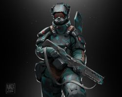 Heavy infantry soldier by Reggie6ypa3