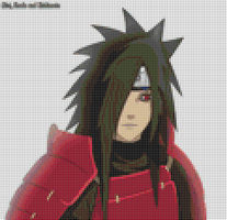 Madara Uchiha Pattern Cross stitch by Nenetchy