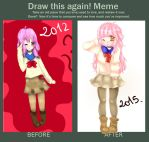 OC Mio - Before and After. by MitsukoBunny-chan