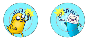 Jake the Dog and Finn the Human Pins by IdentityPolution
