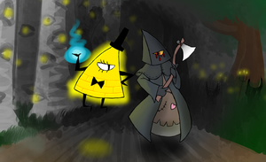 Two Evil Entities Strolling in the Dark by marionette-quintet