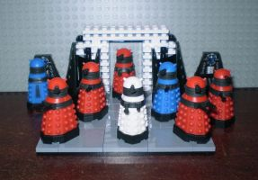 Daleks Micro Army by CyberDrone