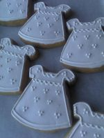 Christening Gown Cookies by eckabeck