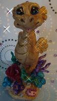 polymer clay sea horse by crazylittlecritters