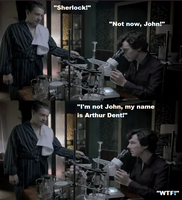 The name is Arthur Dent - Sherlock by FreakyFangirl97