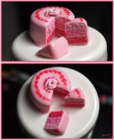 Pink Layered Cake by typochan