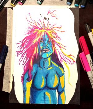Color will be the death of me (self portrait) by Nina4Short