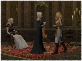 Three Maidens in the Tower by Erevia