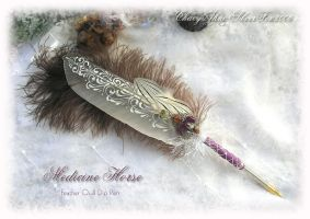 MEDICINE HORSE Quill Pen B by ChaeyAhne