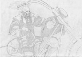 Ghost Rider - Pencil by StingRoll
