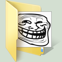 trollface windows 7 folder by Terraromaster