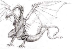 King Ghidorah by Scotwith1T