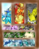 ++Eeveelutions++ by Flara-Chan