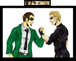 Albert Wesker vs Agent Six -Color- by nupao