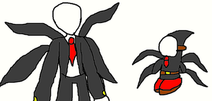 Slender Man and Slender Guy by SurgeCraft