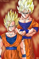 Goku + Gohan - For Yukoyishi by The-Ebony-Phoenix
