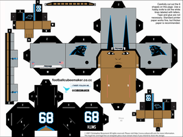 Steve Smith Panthers Cubee by etchings13