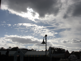 Dark Clouds in a Blue Sky by WDWParksGal-Stock