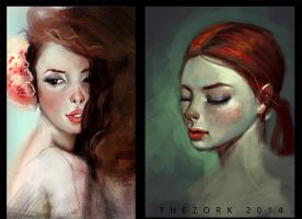 skin tones studies / timelapse video by thezork