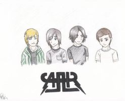all american rejects color by hardcorerocker117