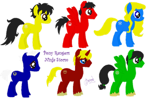 Pony Rangers Ninja Storm by Ameyal