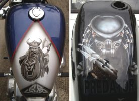 Airbrush warriors by kshandor