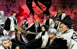 Rukia and the Gotei 13 by The-Nun