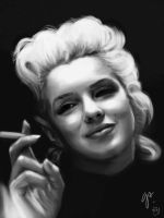 Marilyn Speedpainting by AleRafa