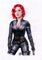 The Avengers - Black Widow by SilkSpectreII