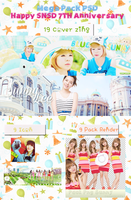 [MEGA PACK PSD] Happy SNSD 7TH Anniversary by pomzwon01