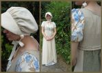 Regency blue-brown floral by krswanson