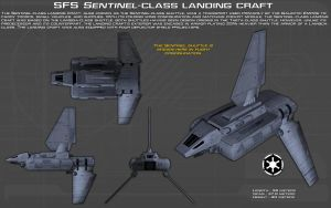 SFS Sentinel-class landing craft ortho [Update] by unusualsuspex
