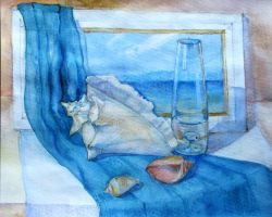 Still life with a shell Author Anna Marinicheva by vasoiko