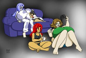 Miruku Cheri Annie Sharkete Pajama Party Color by Anubis2Pabon288