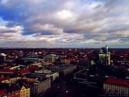 Blick ueber Hannover. by LeonieLionheart