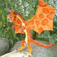 Vermillion Dragon Figure by the-gil-monster