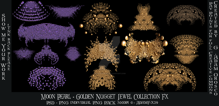 Moon Pearl - Golden Nugget Jewels Collection Fx by ArtwithoutabrushFx