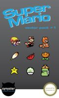 Super Mario Bros vector pack 1 by synysternl