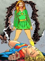 Sylvia defeats Supergirl again by SylviaShadow