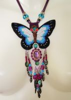 Bead embroidery necklace 7 by Priscillascreations