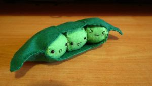 Kawaii Peas in a Pod Plushie 1 by Angel312