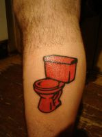The Red Toilet by navillus