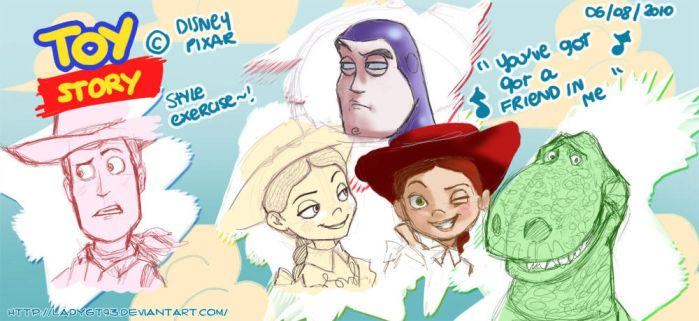 Toy Story Style exercise by LadyGT