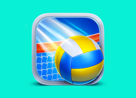 Vollyball App Icon by Icondesire