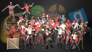 The TF2 Team (Version 3.0) by Professor-Heavy