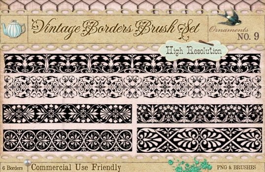 Ornament Borders No. 9 by starsunflowerstudio